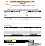 Warranty Claim Form-150